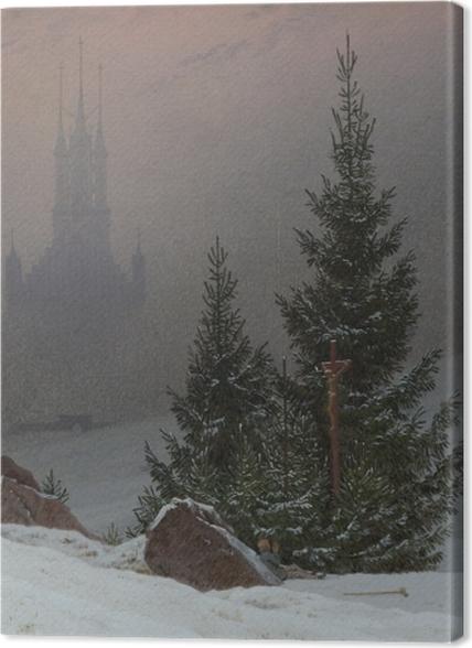 Obrazy premium Caspar David Friedrich - Pejzaż zimowy II - Reproductions