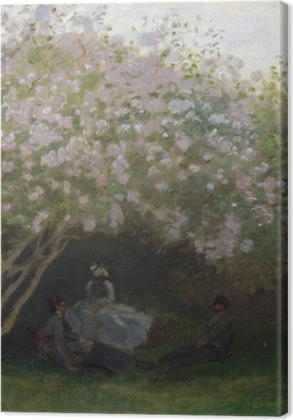 Obrazy premium Claude Monet - Krzaki bzu w pochmurny dzień - Reprodukcje