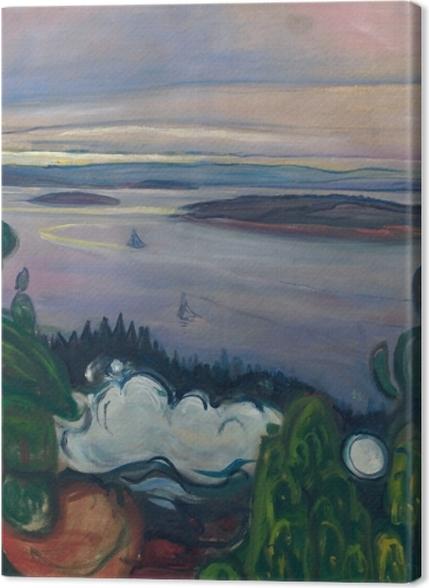Obrazy premium Edvard Munch - Dym pociągu - Reprodukcje