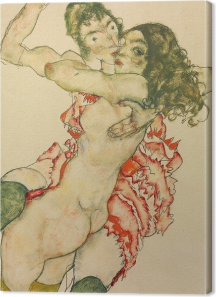 Obrazy premium Egon Schiele - Dwie kobiety - Reprodukcje