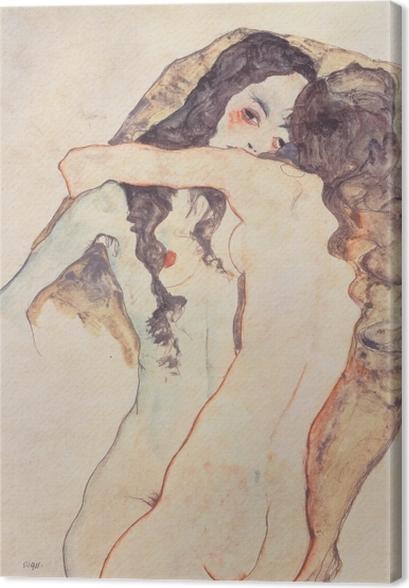 Obrazy premium Egon Schiele - Dwie kochanki - Reprodukcje