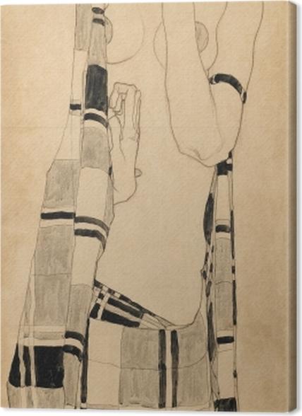 Obrazy premium Egon Schiele - Stojąca dziewczyna - Reprodukcje
