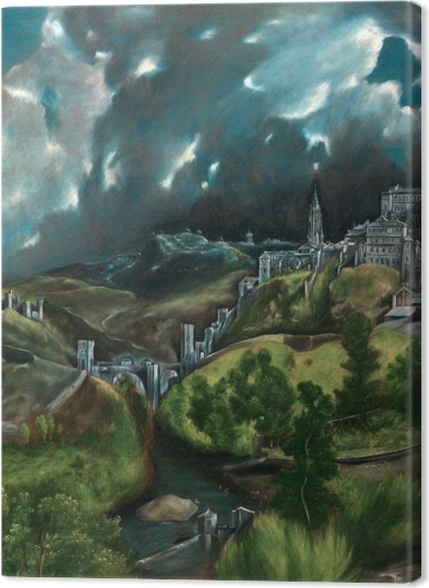 Obrazy premium El Greco - Burza nad Toledo - Reprodukcje