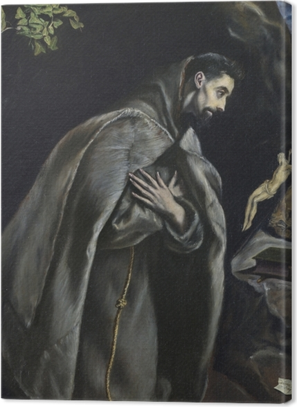 Obrazy premium El Greco - Ekstaza św. Franciszka - Reprodukcje