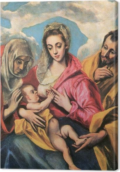 Obrazy premium El Greco - Święta rodzina ze św. Anną - Reprodukcje