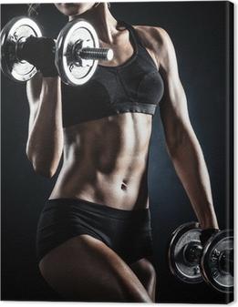 Obrazy premium Fitness z hantlami