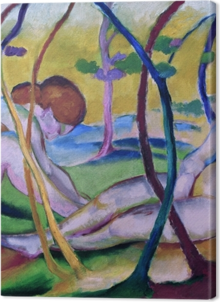 Obrazy premium Franz Marc - Nagie pod drzewami - Reproductions