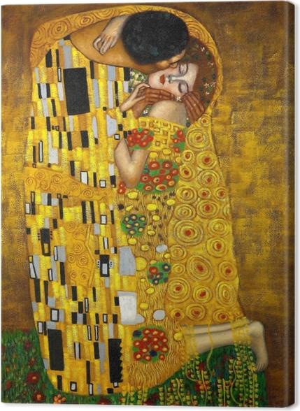 Obrazy premium Gustav Klimt - Pocałunek - Reprodukcje