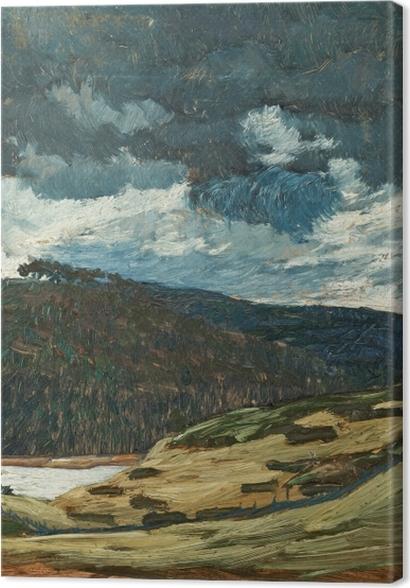 Obrazy premium Helmer Osslund - Letni dzień nad rzeką Ljungan - Reproductions