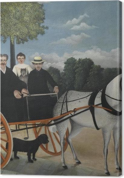 Obrazy premium Henri Rousseau - Bryczka ojca Junier - Reprodukcje