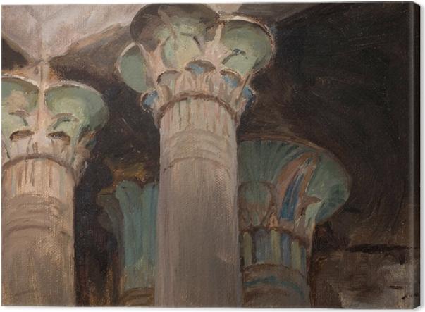 Obrazy premium Jan Ciągliński - Kapitele w świątyni Izydy. Z podróży do Grecji - Reproductions