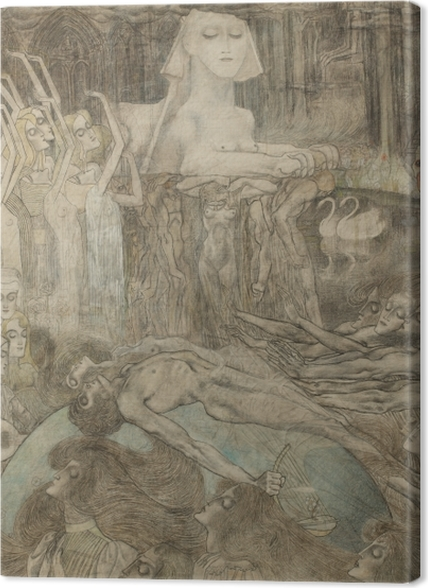 Obrazy premium Jan Toorop - Sfinks - Reproductions