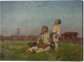 Obrazy premium Józef Chełmoński - Bociany