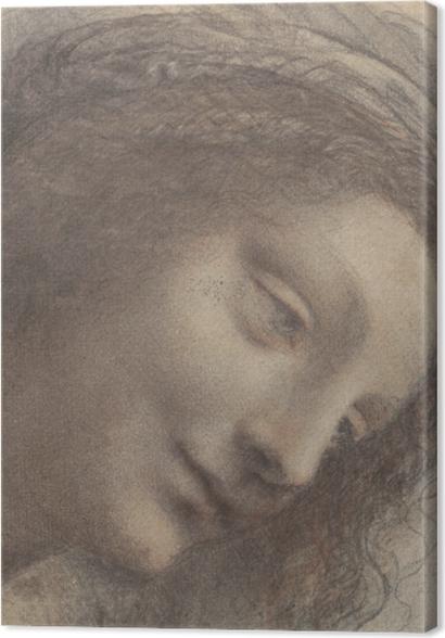 Obrazy premium Leonardo da Vinci - Głowa kobiety - Reprodukcje