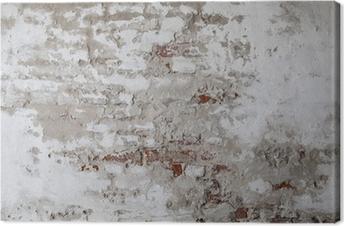 Obrazy premium Old Red Brick Wall z betonie