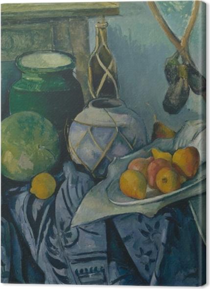Obrazy premium Paul Cézanne - Martwa natura z bakłażanami i dzbanem - Reprodukcje