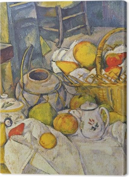 Obrazy premium Paul Cézanne - Martwa natura z koszem - Reprodukcje