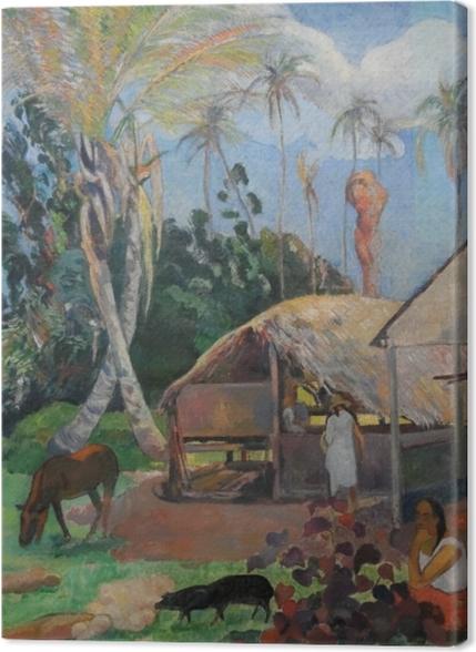 Obrazy premium Paul Gauguin - Czarne świnie - Reprodukcje