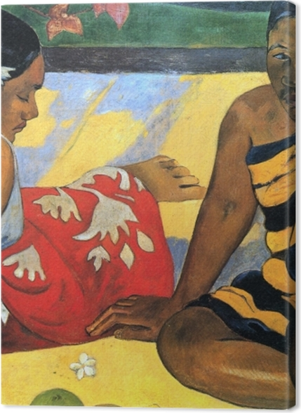 Obrazy premium Paul Gauguin - Dwie tahitańskie kobiety - Reprodukcje