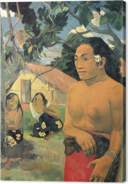 Obrazy premium Paul Gauguin - E haere oe i hia? (Dokąd idziesz?) - Reprodukcje