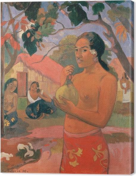 Obrazy premium Paul Gauguin - Ea Haere ia oe (Kobieta trzymająca mango) - Reprodukcje