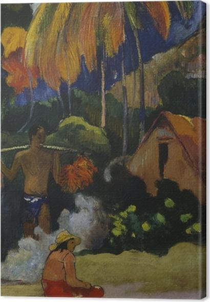 Obrazy premium Paul Gauguin - Mahana Maa (Tahitiański krajobraz) - Reprodukcje