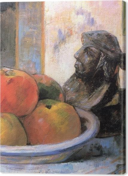 Obrazy premium Paul Gauguin - Martwa natura z jabłkami, gruszką i kubkiem w kształcie postaci - Reprodukcje