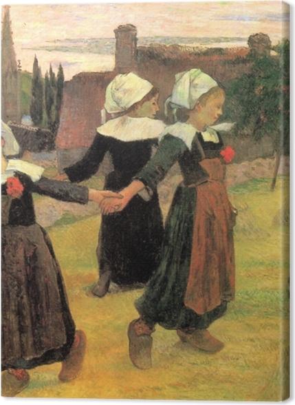 Obrazy premium Paul Gauguin - Tańczące Bretonki - Reprodukcje