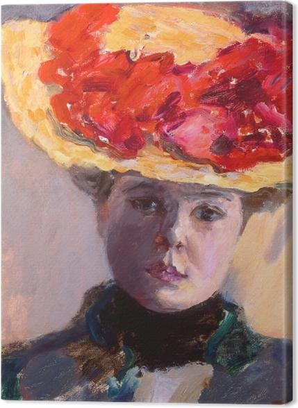 Obrazy premium Pierre Bonnard - Dziewczyna w słomkowym kapeluszu - Reproductions