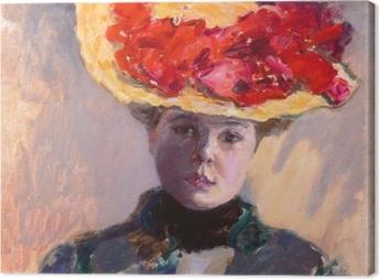 Obrazy premium Pierre Bonnard - Dziewczyna w słomkowym kapeluszu