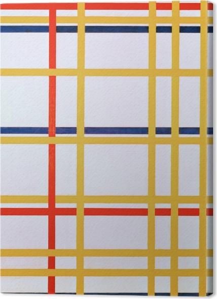 Obrazy premium Piet Mondrian - New York City I - Reprodukcje