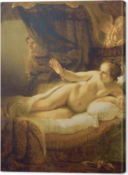 Obrazy premium Rembrandt - Danae - Reprodukcje