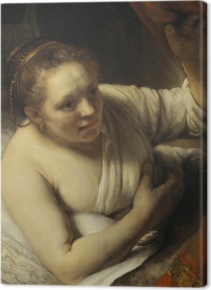 Obrazy premium Rembrandt - Młoda kobieta w łóżku - Reprodukcje