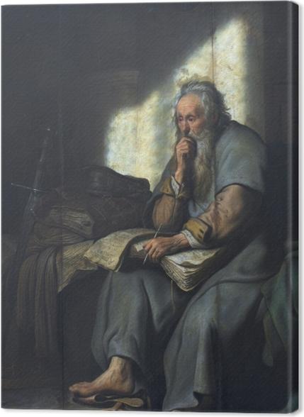 Obrazy premium Rembrandt - Święty Paweł w więzieniu - Reprodukcje