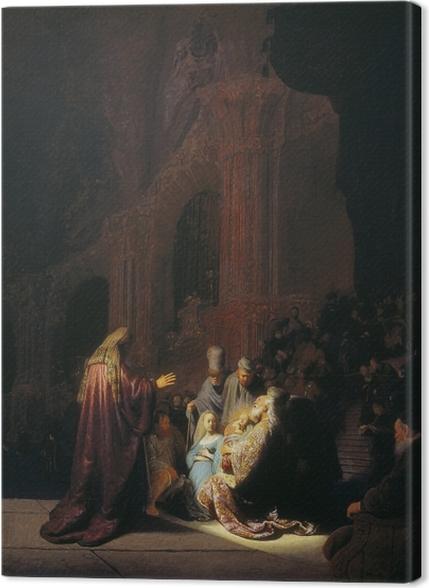Obrazy premium Rembrandt - Symeon w świątyni - Reprodukcje