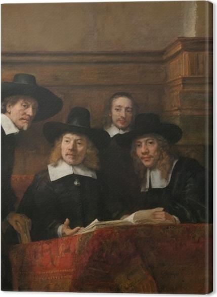 Obrazy premium Rembrandt - Syndycy cechu sukienników - Reprodukcje