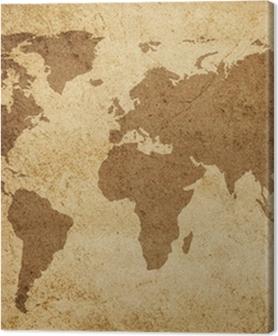 Obrazy premium Tło tekstury mapy świata