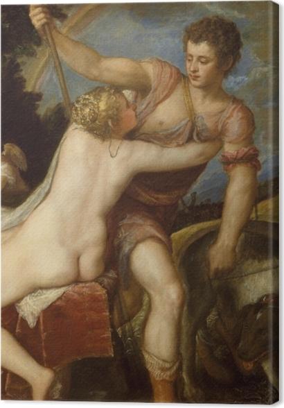 Obrazy premium Tycjan - Wenus i Adonis - Reprodukcje