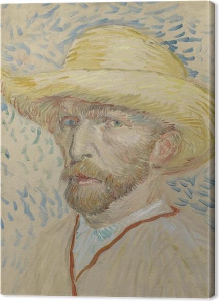 Obrazy premium Vincent van Gogh - Autoportret w słomianym kapeluszu i fartuchu - Reproductions