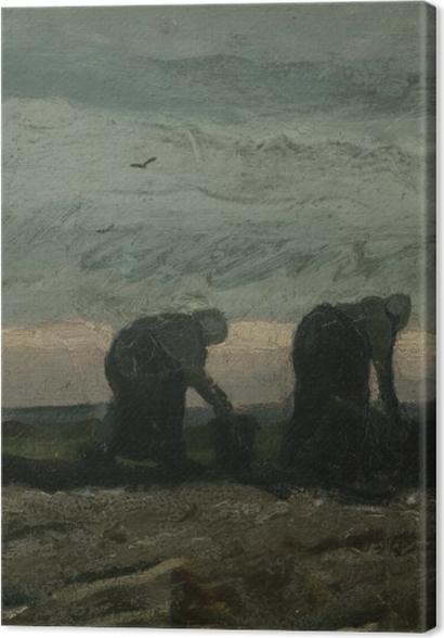 Obrazy premium Vincent van Gogh - Dwie kobiety na wrzosowisku - Reproductions