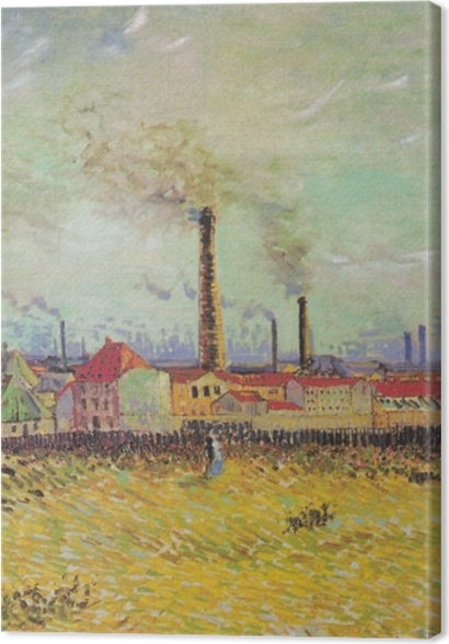Obrazy premium Vincent van Gogh - Farbryki w Asnières - Reproductions
