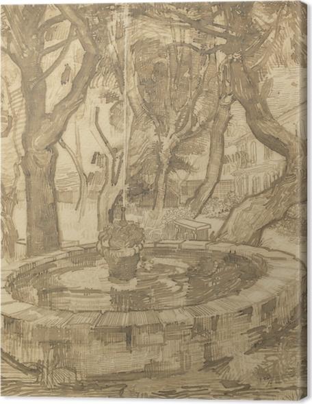 Obrazy premium Vincent van Gogh - Fontanna w ogrodzie azylu - Reproductions