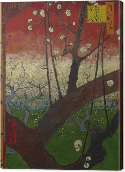 Obrazy premium Vincent van Gogh - Kwitnąca śliwka - Reproductions