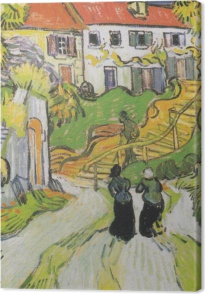 Obrazy premium Vincent van Gogh - Schody w Auvers - Reproductions