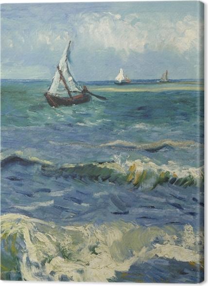 Obrazy premium Vincent van Gogh - Widok morza w Saintes-Maries - Reproductions