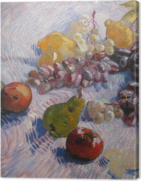Obrazy premium Vincent van Gogh - Winogrona, cytryny, gruszki i jabłka - Reproductions