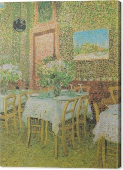 Obrazy premium Vincent van Gogh - Wnętrze restauracji - Reproductions