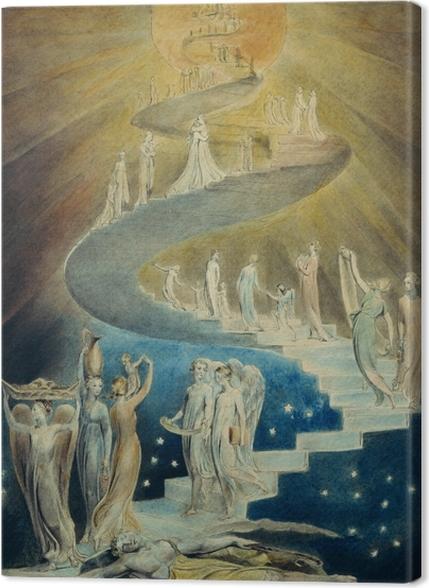Obrazy premium William Blake - Drabina Jakuba - Reprodukcje
