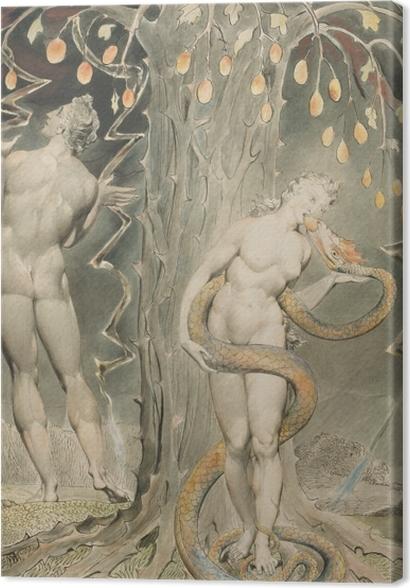 Obrazy premium William Blake - Ewa kuszona przez węża - Reprodukcje