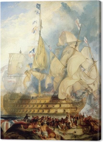 Obrazy premium William Turner - Bitwa pod Trafalgarem - Reprodukcje